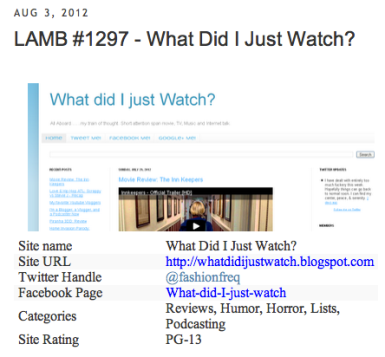 What Did I Just Watch Featured in The Lamb