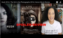 Theatrical poster art for Hush 2016 and The Girl in the Photographs