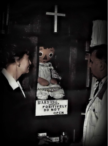 Ed & Lorraine Warren with the real Annabelle Doll
